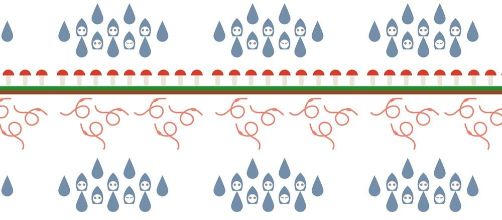 Dětská tapeta Rainworm