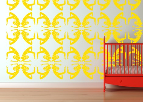 žlutá - Samolepka na zeď Ballet
