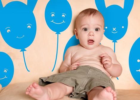 modrá - Dětská dekorace Baloon