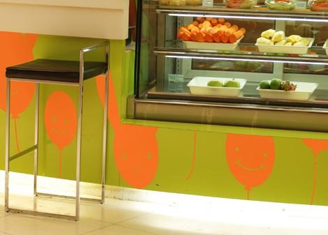 oranžová - Dětská dekorace Baloon