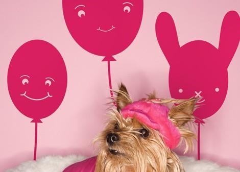růžová - Dětská dekorace Baloon