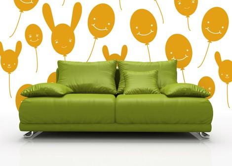 tmavá žlutá - Dětská dekorace Baloon