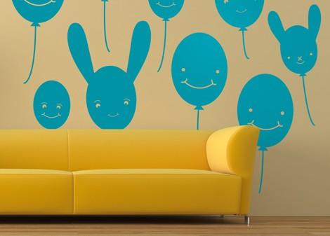 tyrkysová - Dětská dekorace Baloon