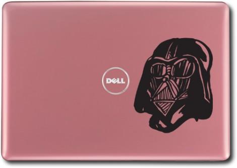 černá - Samolepka na laptop Darth