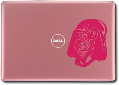růžová - Samolepka na laptop Darth