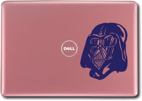 tmavě modrá - Samolepka na laptop Darth
