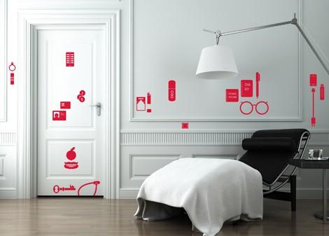červená - Dekorace na stěnu Dont forget