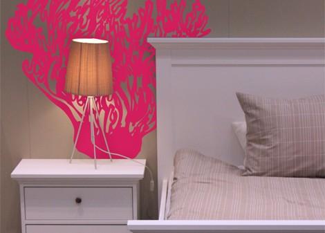 růžová - Samolepka na stěnu Kelpware
