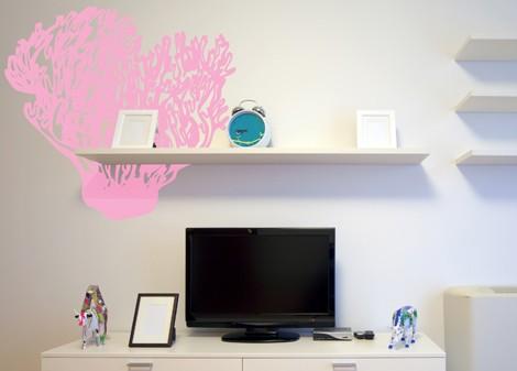 světlá růžová - Samolepka na stěnu Kelpware