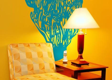 tyrkysová - Samolepka na stěnu Kelpware