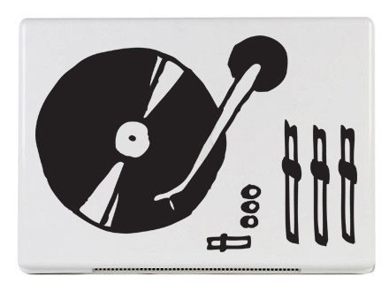 černá - Samolepka na notebook LP