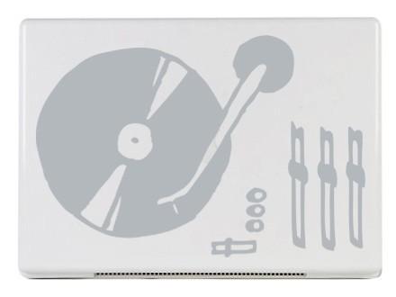světle šedá - Samolepka na notebook LP