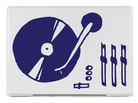 tmavě modrá - Samolepka na notebook LP