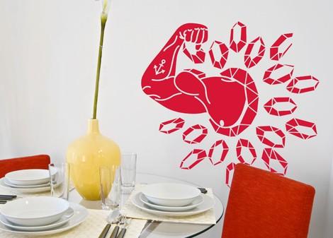 červená - Samolepka na zeď Mr. muscle