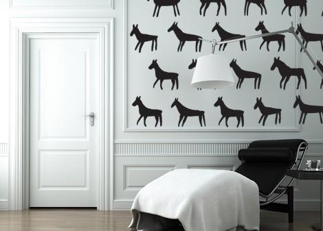 černá - Dekorace na stěnu Mula