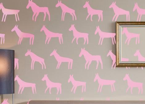 světlá růžová - Dekorace na stěnu Mula