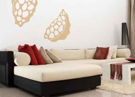 světle béžová - Samolepící dekorace Polypore