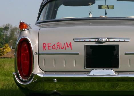 červená - Samolepka na zeď Redrum