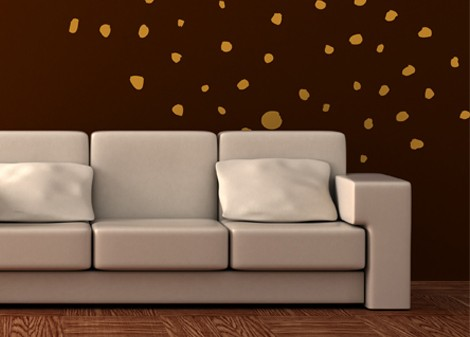 zlatá - Dekorace na stěnu Stardust