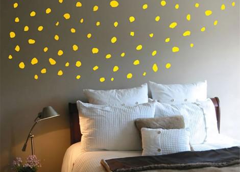 žlutá - Dekorace na stěnu Stardust