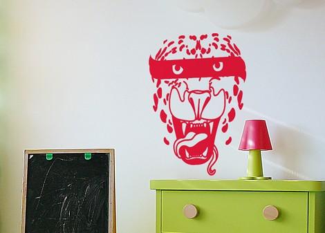 červená - Dětská samolepka Tiger style