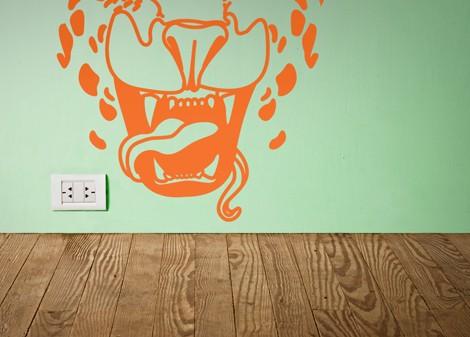 oranžová - Dětská samolepka Tiger style